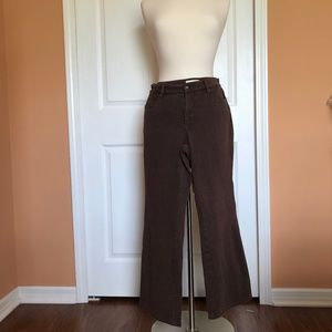 Coldwater Creek  Brown jeans 10P never worn